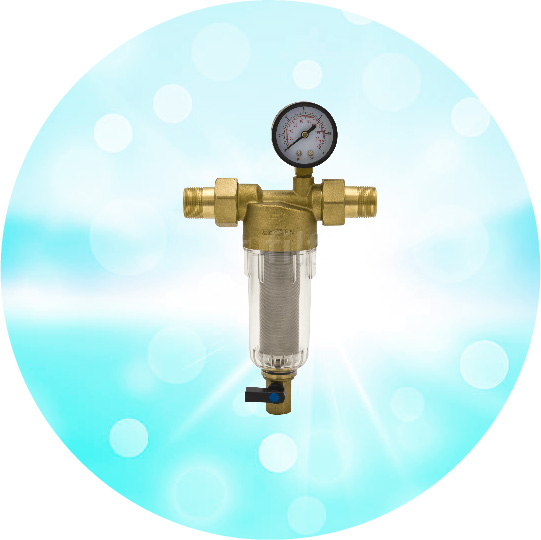 Магистральный фильтр с манометром Бастион-7508165233