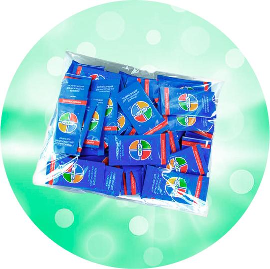 Композиция для приготовления кислородного коктейля Композиция 100 порционных пакетиков в упаковке
