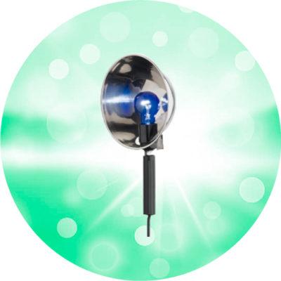 Синяя Лампа Рефлектор электрический