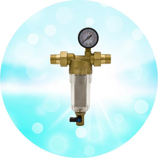 Магистральный фильтр Гейзер Бастион 112 с манометром